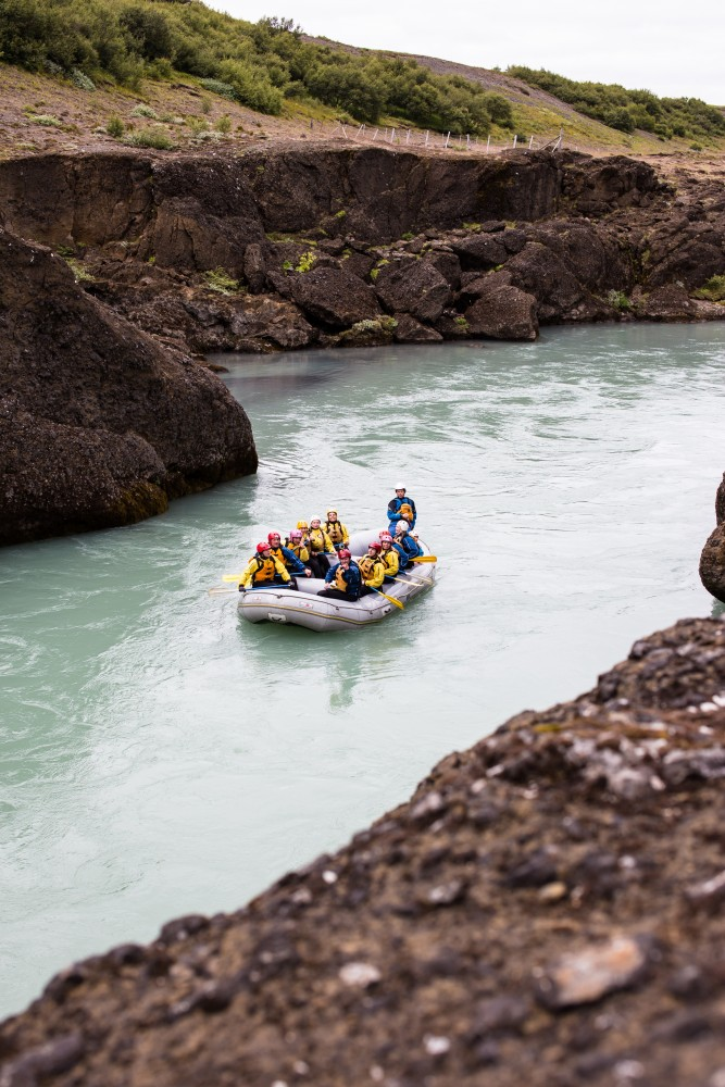 River rafting in Hvítá